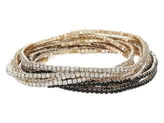 GUESS 10-Piece Stone Stretch Bracelet Set