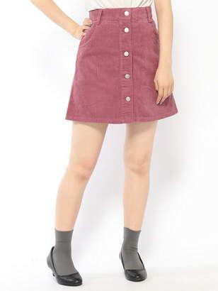 BROWNY STANDARD (ブラウニー スタンダード) - BROWNY STANDARD BROWNY STANDARD/(L)コーデュロイフロントボタンミニスカート ウィゴー スカート