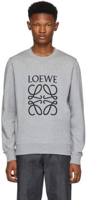 Loewe Grey Large Anagram Sweatshirt