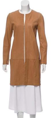 Vince Leather Knee-Length Coat