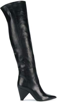 Aldo Castagna pointed over-the-knee boots