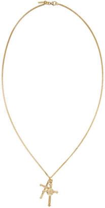 Emanuele Bicocchi SSENSE Exclusive Gold Double Cross Necklace