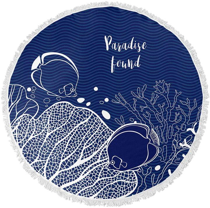 Kavka Designs Paradise Found Round Beach Towel