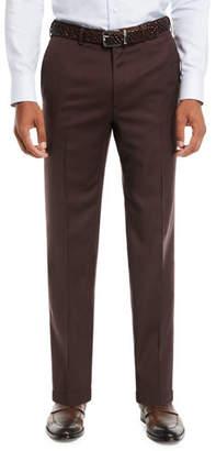 Brioni Men's Wool Straight-Leg Twill Trousers