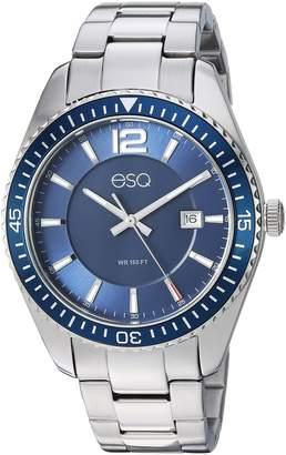 ESQ by Movado ESQ Men's 'Dress' Quartz Stainless Steel Casual Watch, Color Silver-Toned (Model: 37ESQE16001A)