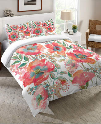 Laural Home Bohemian Poppies Twin Comforter Bedding