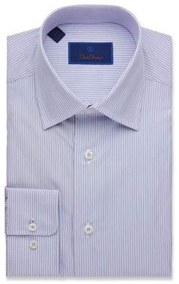 David Donahue Men's Regular-Fit Framed Stripe Dress Shirt