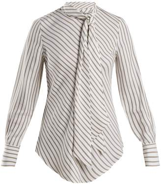 See by Chloe Striped crepe blouse