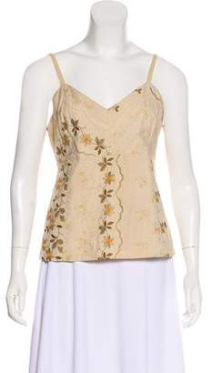 Dosa Embroidered Sleeveless Top