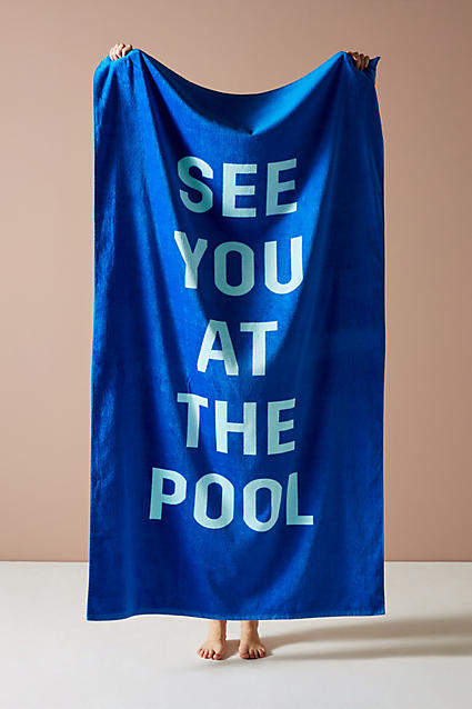 Ban. do See You At The Pool Beach Towel
