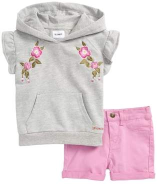 Hudson Embroidered Hoodie & Shorts Set