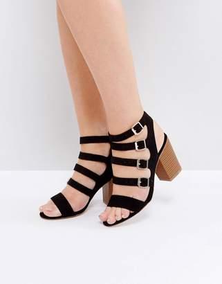 New Look Multi Buckle Detail Heeled Sandal