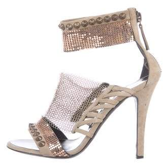 Giuseppe Zanotti x Balmain Chainmail-Embellished Cage Sandals