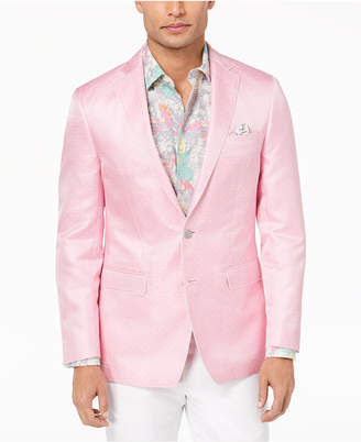 Tallia Orange Men's Modern-Fit Pink Dot Dinner Jacket
