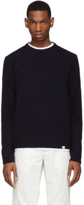 Norse Projects Navy Lambswool Sigfried Sweater