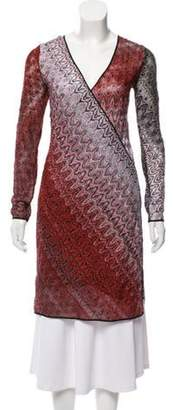 Missoni Abstract Print Long Sleeve Dress Red Abstract Print Long Sleeve Dress