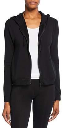 Neiman Marcus Majestic Paris for Zip-Front Long-Sleeve Hoodie Jacket