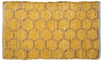 """Ess Ess Exports Beehive Modern Area Rug 24""""X36"""" Yellow Ess Ess Exports"""