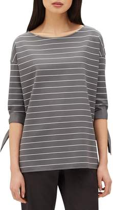 Lafayette 148 New York Catriona Mulberry Stripe Jersey Blouse