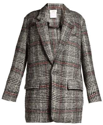 Etoile Isabel Marant Erix Checked Tweed Blazer - Womens - Black White