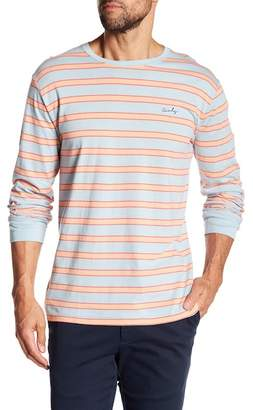 Barney Cools Cools Micro Script Stripe Long Sleeve Shirt
