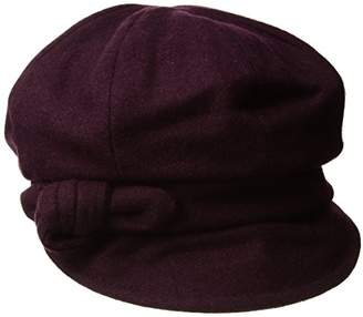 Betmar Women's Adele Cap, Red (Bordeaux)