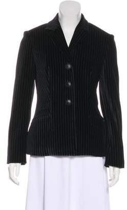 Versace Structured Velvet Blazer