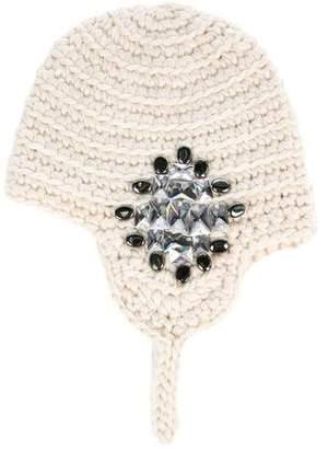 Thomas Wylde Knit Embellished Beanie
