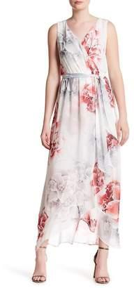 Sangria Surplice Wrap Dress