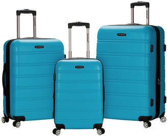 Rockland Melbourne 3-Piece Abs Luggage Set