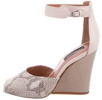 Derek Lam Snakeskin Wedge Sandals