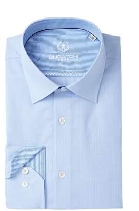 Bugatchi Woven Shaped Fit Dress Shirt