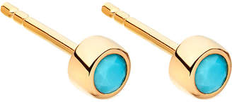 Astley Clarke Mini Stilla 18ct yellow gold-plated and turquoise stud earrings