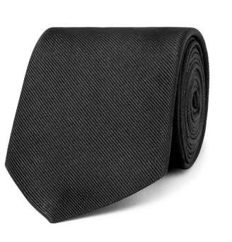 Alexander McQueen 8cm Embroidered Silk-faille Tie