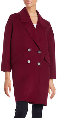 Diane Von Furstenberg Roma Double Breasted Boyfriend Coat $598 thestylecure.com