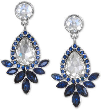 Badgley Mischka Silver-Tone Crystal Drop Earrings
