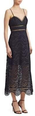 Zimmermann Jaya Wave Eyelet Midi Dress