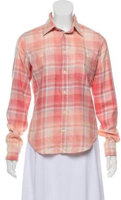 Ralph Lauren Plaid Button-Up Top