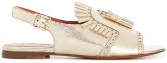 Santoni fringed sandals