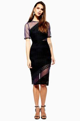 Topshop Honeycomb Airtex Midi Dress