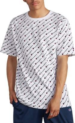 Champion All Over Logo Print T-Shirt