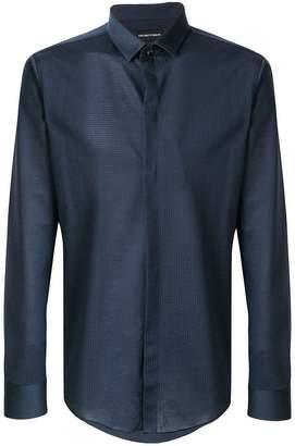 Emporio Armani fine checked slim fit shirt