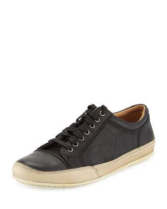 John Varvatos Star Leather Low-Top Sneaker, Black $219 thestylecure.com