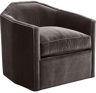 Mr & Mrs Howard Speakeasy Swivel Glider Chair - Charcoal Velvet