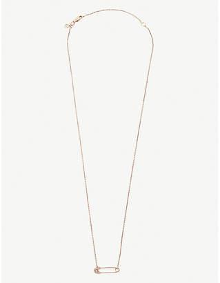Sydney Evan The Alkemistry 14ct rose-gold safety pin necklace