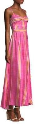 Prabal Gurung Plaid Silk A-Line Cami Dress