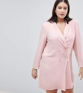 Asos Tux Blazer Mini Dress with Pearl Buttons
