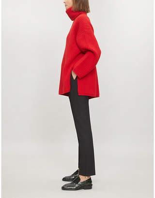 Joseph New Dallas Comfort elasticated-waist slim-fit trousers