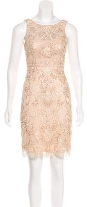 Sue Wong Embroidered Mesh Dress
