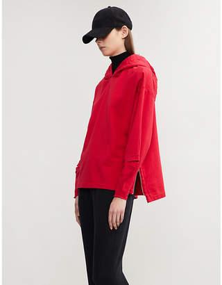 Closed x Girbaud split-sleeve cotton-jersey hoody